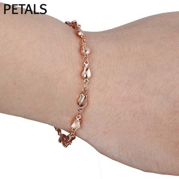 "Rose Gold Filled ""Rolo"" Ladies Bracelet - Blown Biker - 4"