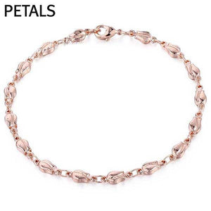 "Rose Gold Filled ""Rolo"" Ladies Bracelet - Blown Biker - 3"