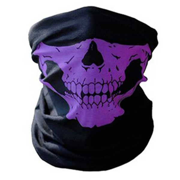 """Skull Rider"" Motorcycle Half-Face Mask - Blown Biker - 7"