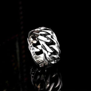 "Rings - 316L Stainelss Steel ""Gothic Chain"" Ring"