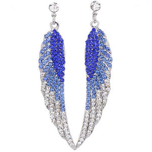 "Angel Wings ""Long"" Rhinestone Earrings"