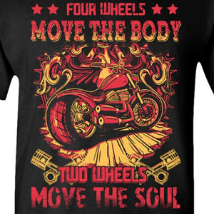 4 Wheels T-Shirt (Front Print) - Blown Biker - 1