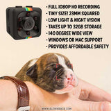 """MiniEye"" 1080P HD Mini Camera w/ Night Vision - Blown Biker - 3"