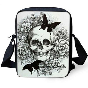 "Printed ""Skulls"" Womens Messenger Bag"