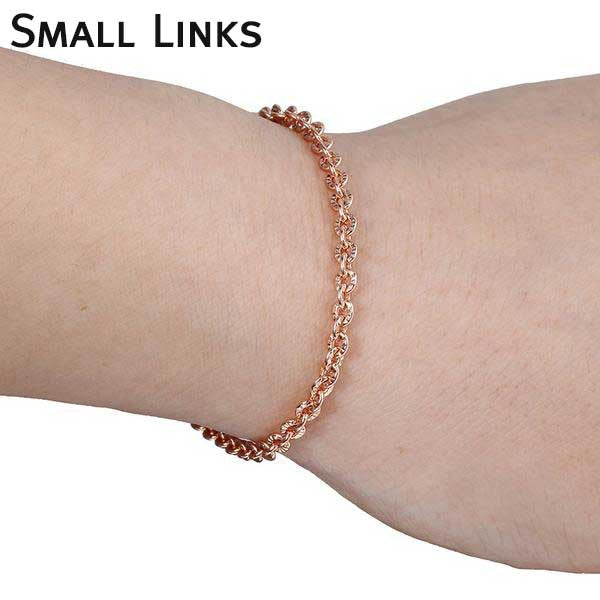 "Rose Gold Filled ""Rolo"" Ladies Bracelet - Blown Biker - 2"