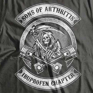 Sons Of Arthritis T-Shirt (Back Print) - Blown Biker - 1