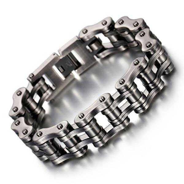 "316L Stainless Steel ""Steeled"" Bracelet - Blown Biker - 1"