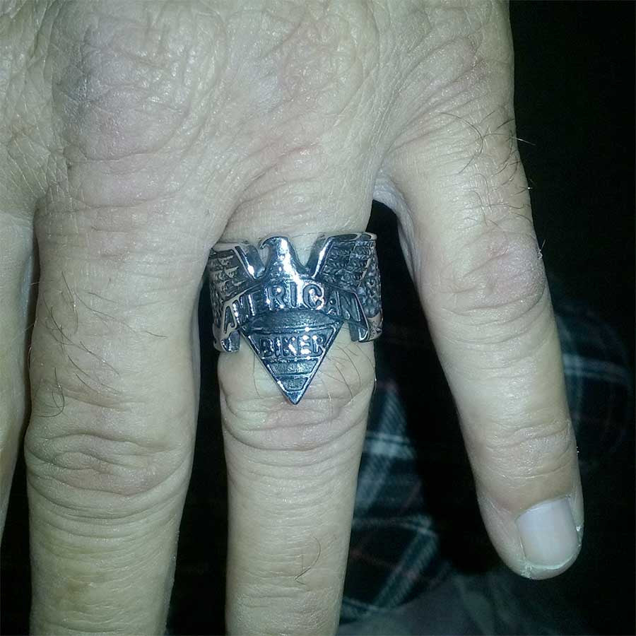 Timothy's American Biker Ring - Blown Biker