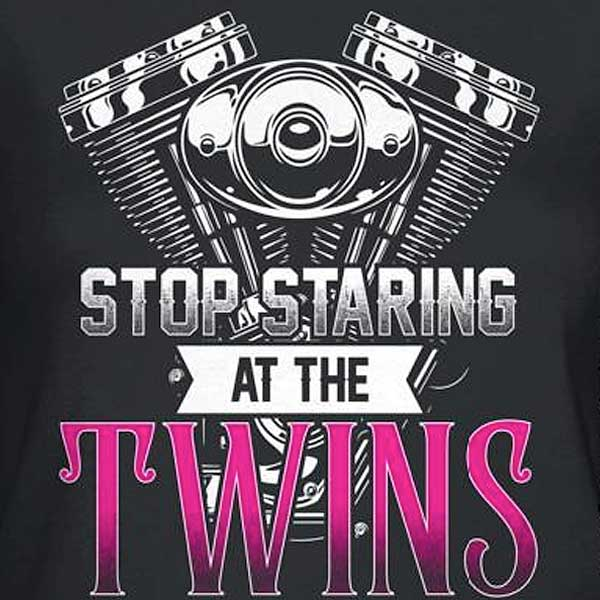 Stop Staring At The Twins Hoody - Blown Biker - 1