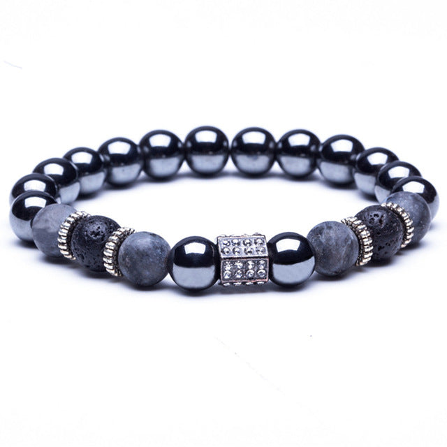 """Lava Beads"" Stretch Bracelet (7 Styles)"