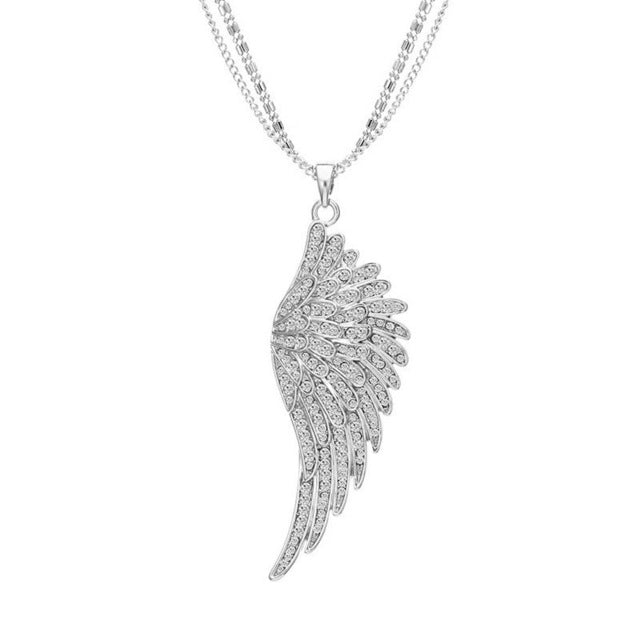 18k rose gold plated angel wings feather pendant necklace blown rose gold angel wings feather pendant necklace blown biker 7 aloadofball Gallery