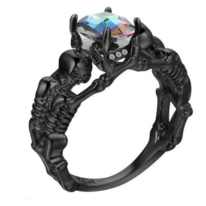 """Skeleton Hand"" Cubic Zirconia Ring"