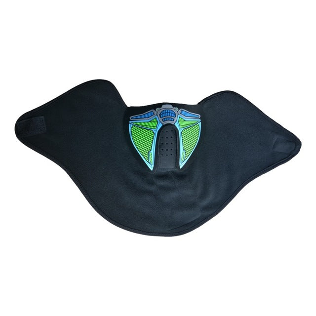 Glow In The Dark Flashing Motorcycle Face Mask - Blown Biker - 12