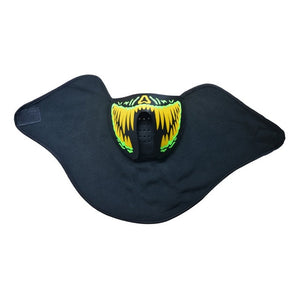 Glow In The Dark Flashing Motorcycle Face Mask - Blown Biker - 14