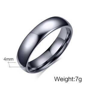 "Tungsten Carbide ""Sleek"" Ring - Blown Biker - 7"