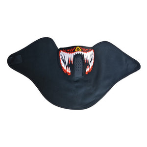 Glow In The Dark Flashing Motorcycle Face Mask - Blown Biker - 9
