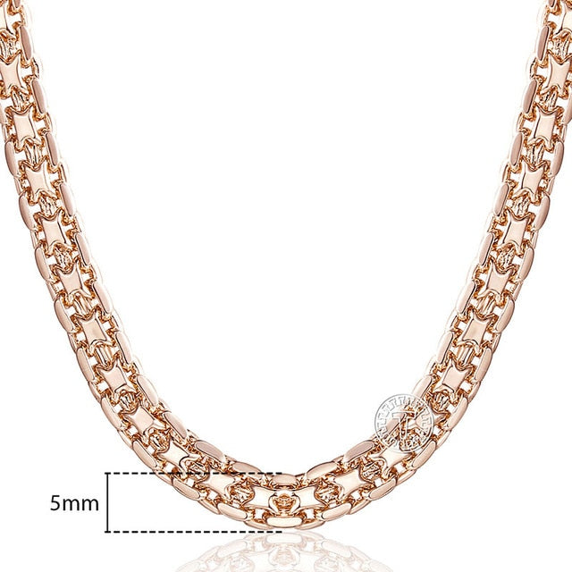 30c21a9dcc199 585 Rose Gold Chain Necklace (3 Styles)