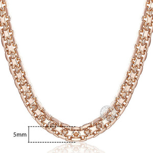 585 Rose Gold Chain Necklace (3 Styles)