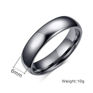 "Tungsten Carbide ""Sleek"" Ring - Blown Biker - 6"