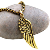 "316L Stainless Steel ""Angel Wing"" Necklace"