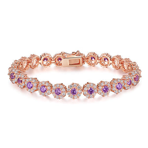 "18k Rose Gold Plated ""Cubic"" Bracelet"