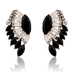 "Angel Wings ""Crystals"" Earrings - Blown Biker - 3"