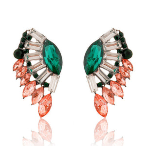"Angel Wings ""Crystals"" Earrings - Blown Biker - 5"