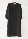 Embroidered Black Kurta