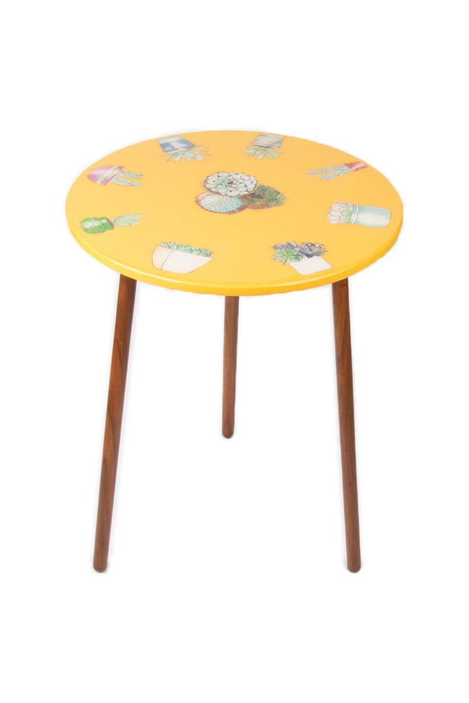 The Amanda Table: Yellow Cactus