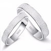 Platinum Plated Wedding Frosted Couple Ring for Men and Women - Todaysdeal - 1
