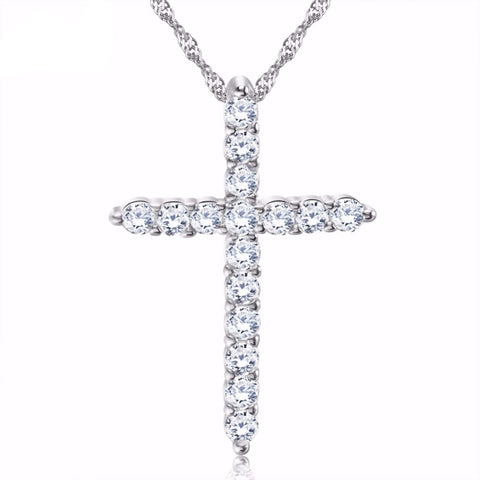Cross Pendant Necklace with Luxury Austria Crystal Zircon