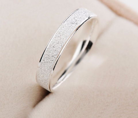 Platinum Plated Wedding Frosted Couple Ring for Men and Women - Todaysdeal - 5
