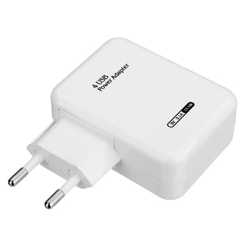 4 USB Port Micro USB Charger USB Adapter Travel Wall Charger