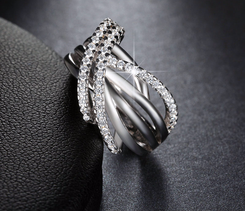 Unique Angel Wings Shining Ring