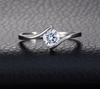 Single Women's Wedding Engagement Ring - Todaysdeal - 3