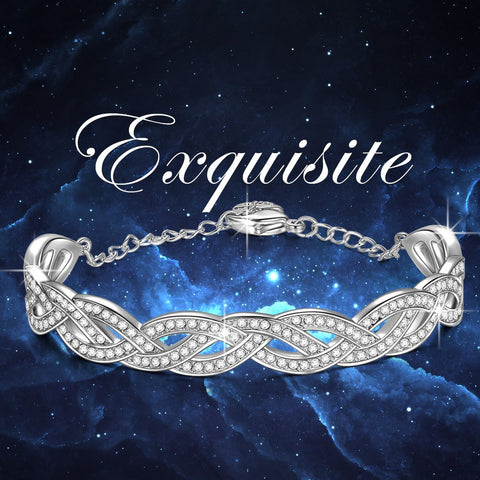 LADY COLOUR - Weave - Bracelet for Women with Crystals from Swarovski - LUMIERE