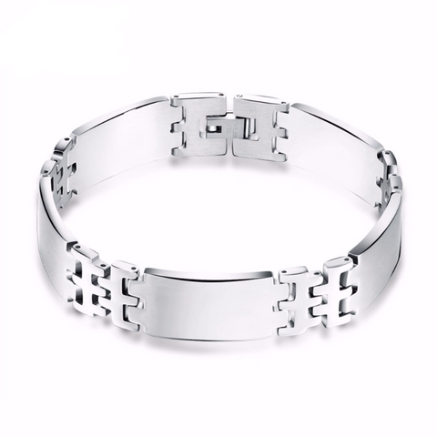 Silver Stainless Steel Bracelet Bangle Male Accessory