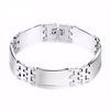 Silver Stainless Steel Bracelet Bangle Male Accessory - Todaysdeal - 1