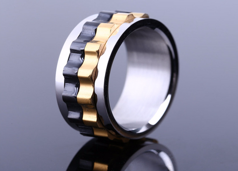 Gear Ring 316 Stainless Steel Titanium Ring