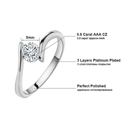 Single Women's Wedding Engagement Ring - Todaysdeal - 2
