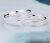 Platinum Plated Wedding Frosted Couple Ring for Men and Women - Todaysdeal - 4