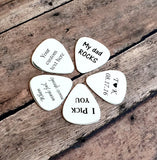 Image of New Engraved Guitar Pick, Personalized Guitar Pick, Custom Guitar Pick Gift