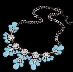 Statement Choker Flower Necklace Crystal Collar Pendant Fashion Jewelry - Todaysdeal - 5