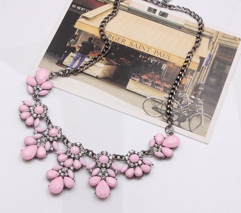 Statement Choker Flower Necklace Crystal Collar Pendant Fashion Jewelry - Todaysdeal - 11