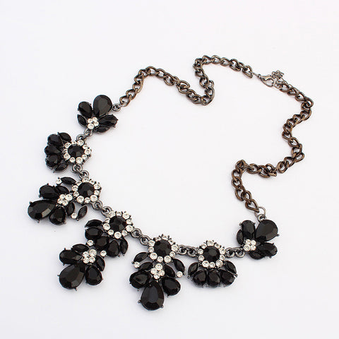 Statement Choker Flower Necklace Crystal Collar Pendant Fashion Jewelry - Todaysdeal - 10