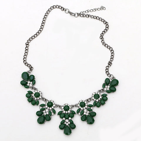 Statement Choker Flower Necklace Crystal Collar Pendant Fashion Jewelry - Todaysdeal - 12