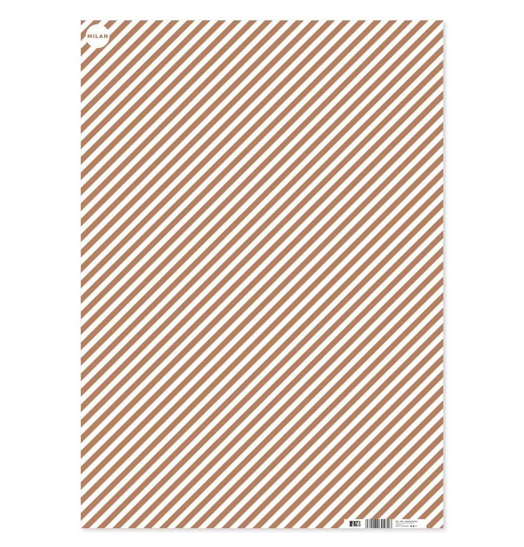 1973 Wrapping Paper – Gold Stripes