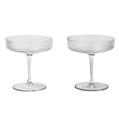 Ferm Living Ripple Champagne Glasses - Set of 2 - HUH. Store