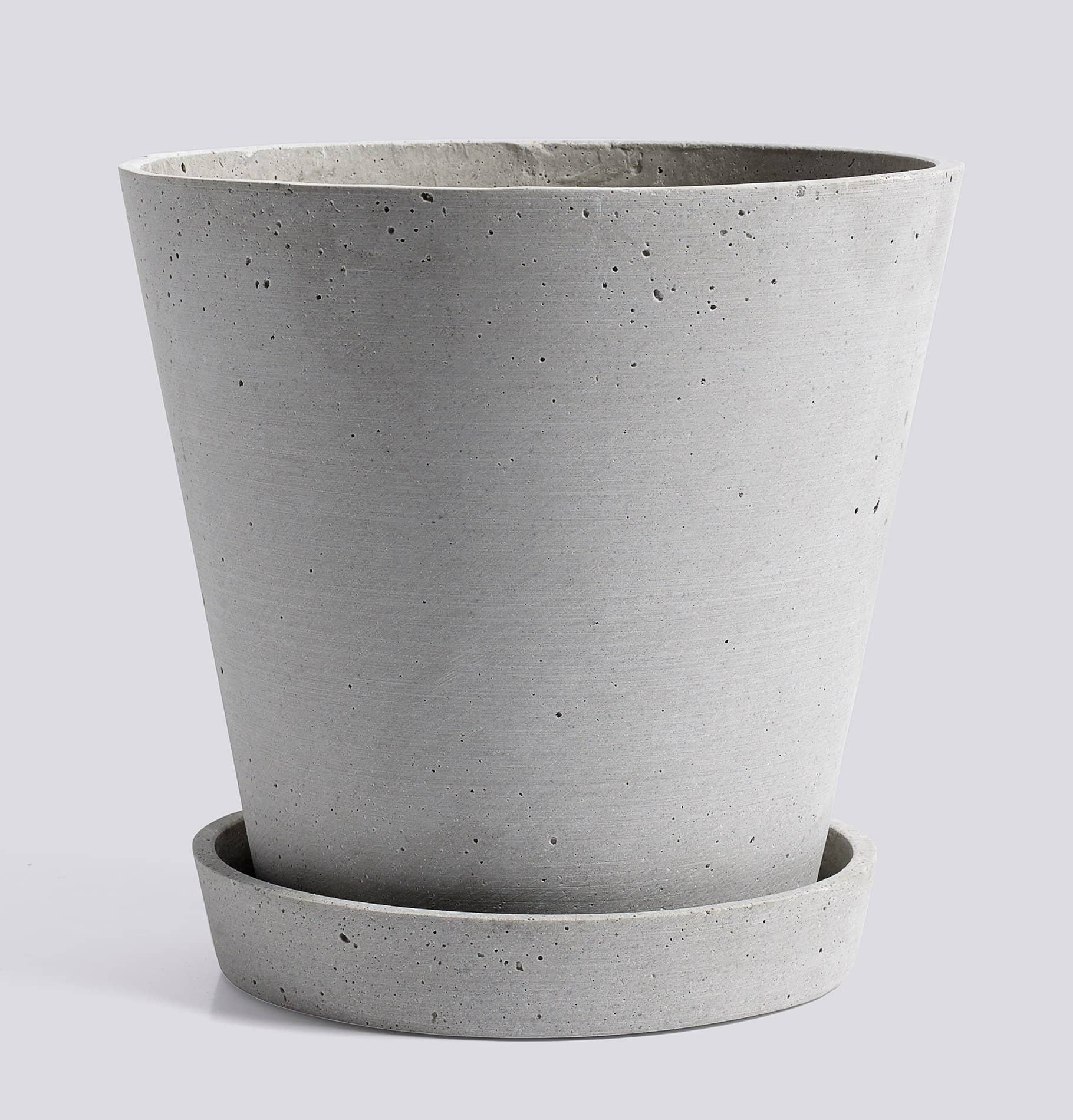 HAY Flowerpot with Saucer - XL Grey