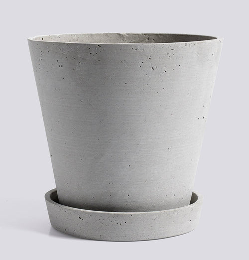 HAY Flowerpot with Saucer - XL Grey - HUH. Store